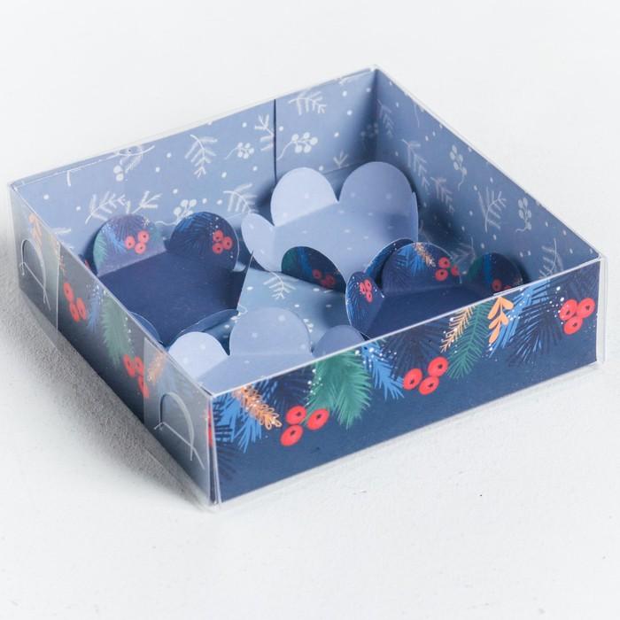 Коробка для макарун с подложками «Любви и счастья», 12 × 12 × 3 см