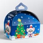 Складная коробка «Подарок от мышонка», 18 × 19 × 12 см