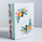 Подарочная коробка Happy New Year, 26 × 17 × 10 см