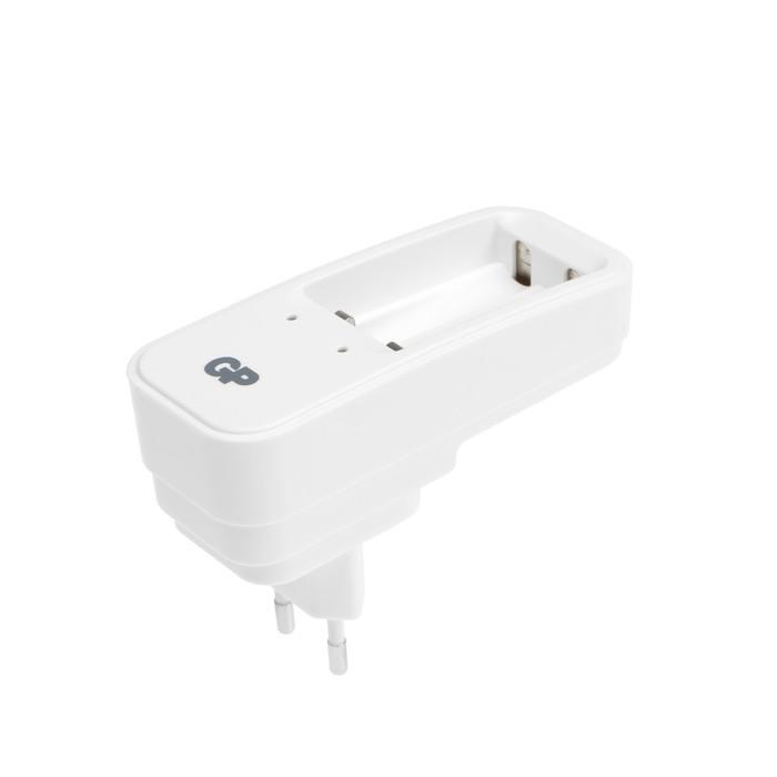 Зарядное устройство GP PB410 + 2 аккумулятора AAA 700 мAч, белый