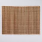 Салфетка плетёная, бежевая, 33×45 см, бамбук