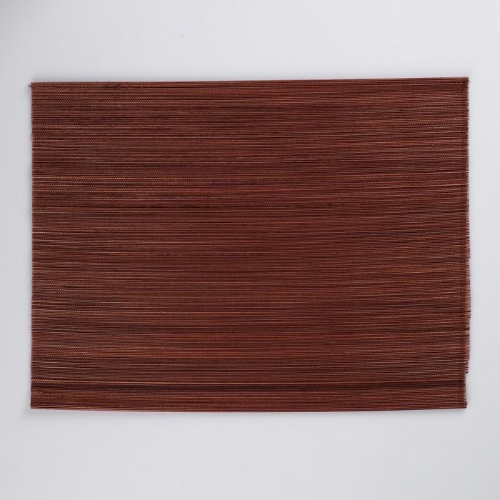 Салфетка плетёная, коричневая, 30×40 см, бамбук