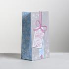 Пакет подарочный без ручек «Хорошего Года», 10 × 19.5 × 7 см