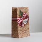 Пакет подарочный без ручек «Уютных моментов», 10 × 19.5 × 7 см