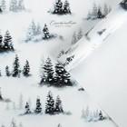 Бумага упаковочная глянцевая «Зимний лес», 70 × 100 см