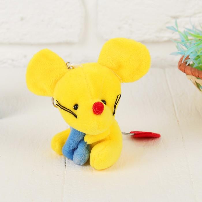 """Мягкая игрушка-брелок """"Мышонок на хвостике сердце"""" цвет МИКС"""