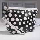 Косметичка-сумочка, отдел на молнии, с ручкой, цвет чёрный