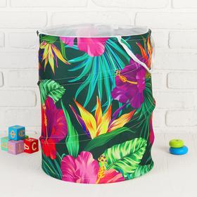 Корзина для хранения игрушек «Цветы» 35×35×45 см