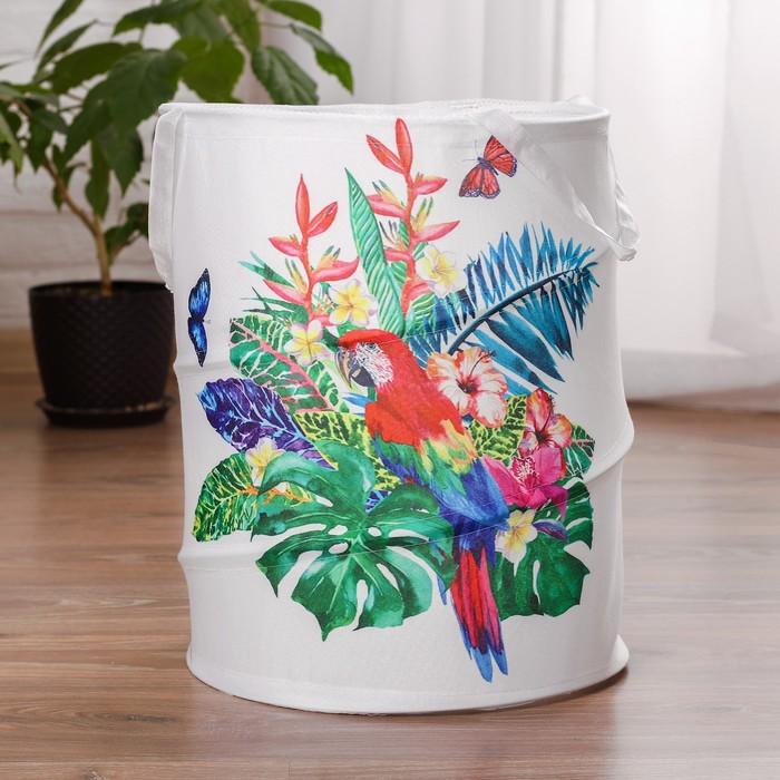 Корзина для хранения игрушек «Попугай» 35×35×45 см