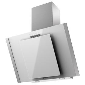 Вытяжка Shindo OSTARIA 60 SS/WG, наклонная, 600 м3/ч, 3 скорости, 60 см, белая/серебристая