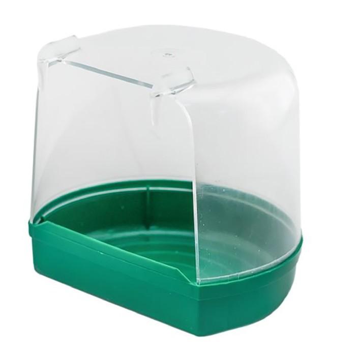 Купалка для птиц, внешняя, малая, прозрачная, 12 х 9 х 11 см, микс цветов