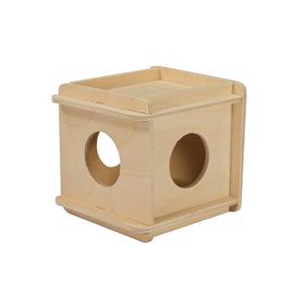 """Игрушка для грызунов в клетку """"Кубик"""" малый, 10 х 10 х 11,5  см, фанера"""