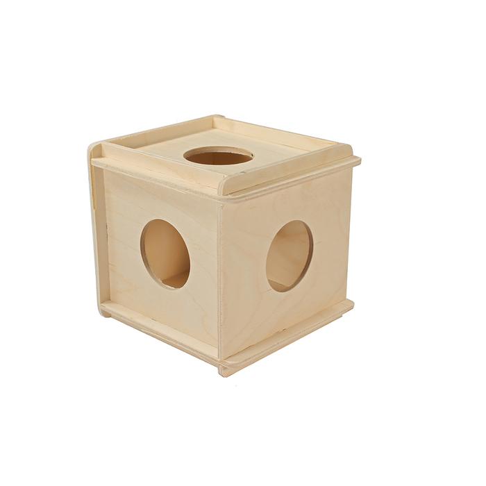 """Игрушка для грызунов в клетку """"Кубик"""" большой, 12 х 12 х 13,5  см, фанера"""