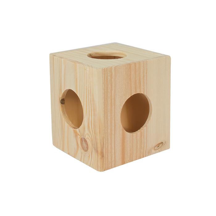 """Игрушка для грызунов в клетку """"Кубик"""" малый, 10 х 10 х 10  см, массив дерева"""