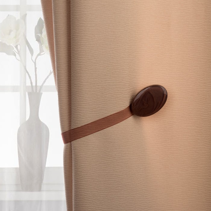Подхват для штор, 5 × 3,5 см, цвет коричневый
