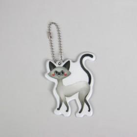 Светоотражающий элемент 'Кошка', 6 x 8 см, цвет серый (комплект из 5 шт.)