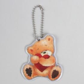 Светоотражающий элемент 'Медведь', 7 x 6 см, цвет оранжевый/красный (комплект из 5 шт.)