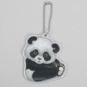 Светоотражающий элемент 'Панда', 7 x 6 см, цвет белый/чёрный (комплект из 5 шт.)