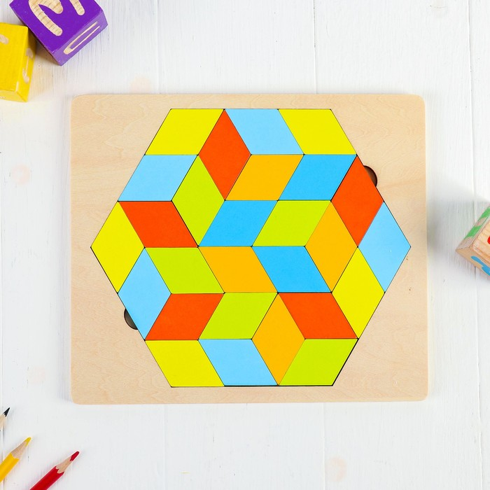 Рамка-вкладыш. Фигуры «Часть куба»