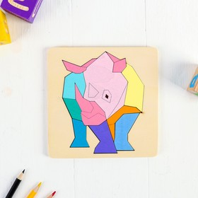 Рамка-вкладыш. Животные «Носорог»