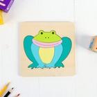"""Frame-liner. Animals """"Frog"""""""