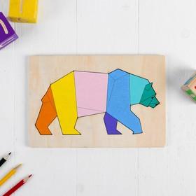 Рамка-вкладыш. Животные «Медведь»