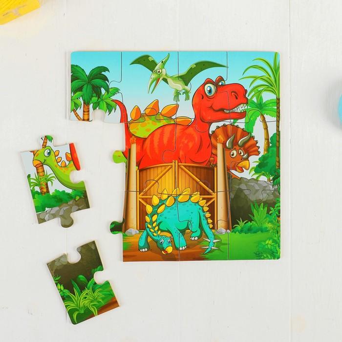Набор пазлов в коробке «Динозавры»