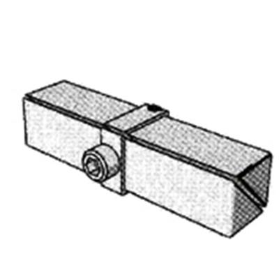 Удлинитель квадратный, (901/В), 20*20мм с полкодержателем, цвет хром