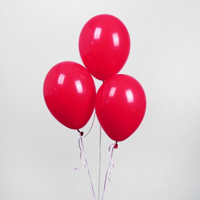 """Шар латексный 10"""", пастель, набор 100 шт., цвет вишневый - фото 308471335"""