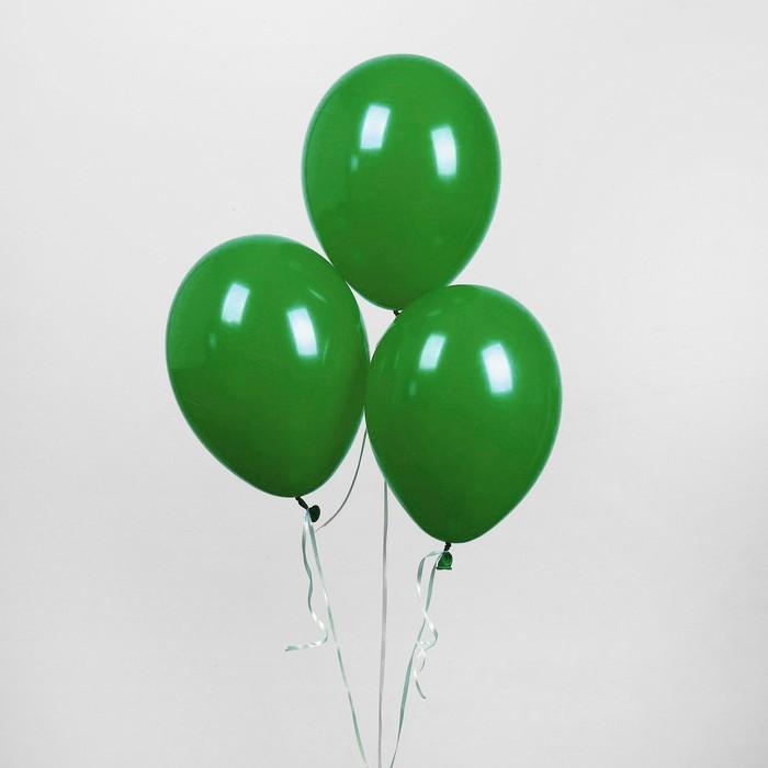 """Шар латексный 10"""", пастель, набор 50 шт., цвет тёмно-зелёный - фото 308471343"""