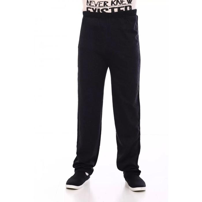 Брюки мужские, цвет чёрный, размер 48
