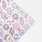 Бумага глянцевая в рулоне «Ёлочные игрушки», 0.68 × 7 м