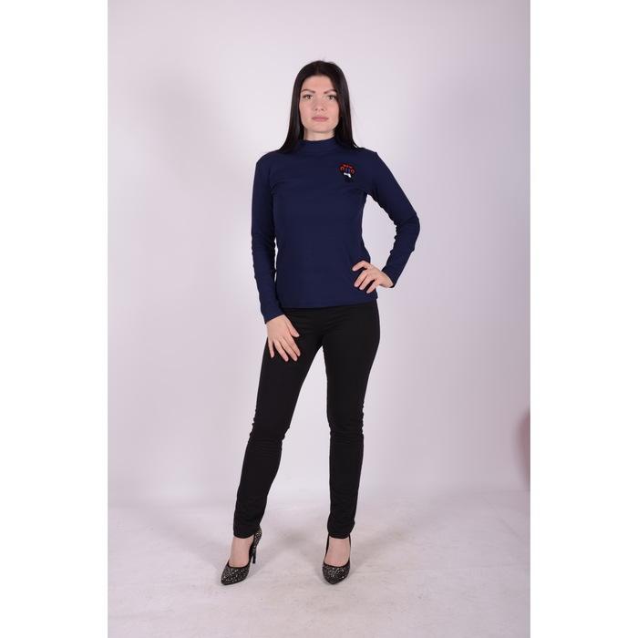 Водолазка женская, цвет синий р-р 46