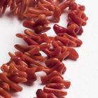 """Бусины иголки """"Коралл"""", 36см, цвет красный"""