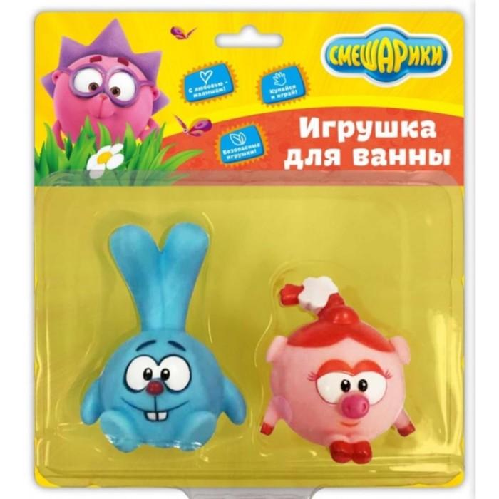Набор из 2-х игрушек для купания «Крош и Нюша», 8,5 см, 6 см, в блистере