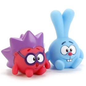 Набор из 2-х игрушек для купания «Крош и Ёжик», в сетке