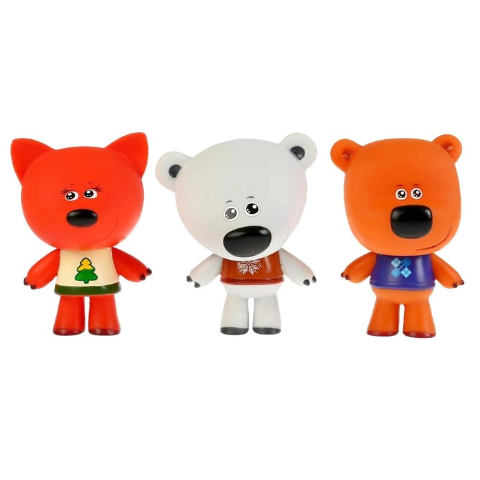 Набор из 3-х игрушек для купания «Лисичка, Белая Тучка, Кеша», 10 см, в коробке