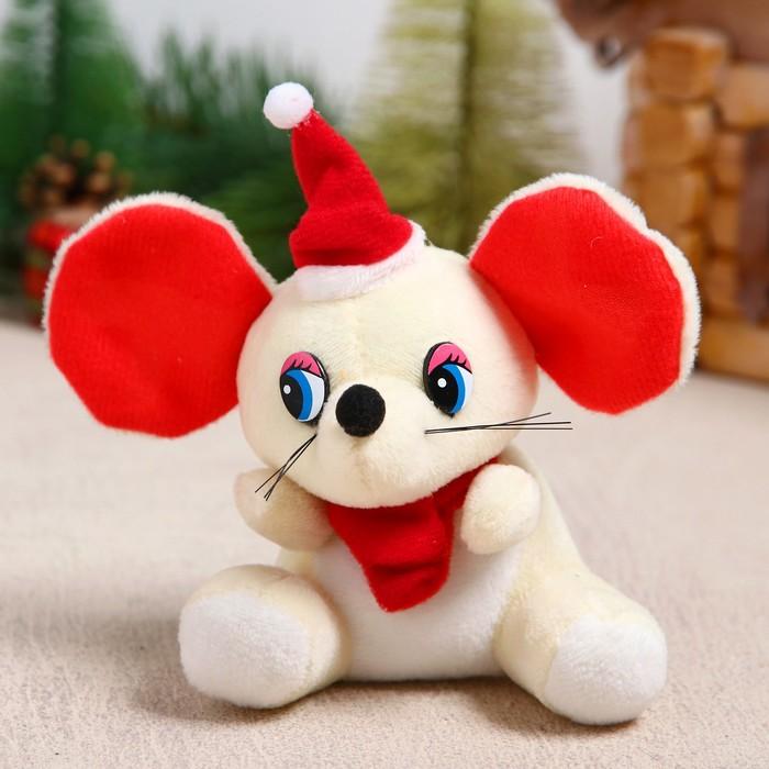 """Мягкая игрушка-брелок """"Мышонок в красном колпаке"""" цвет МИКС"""
