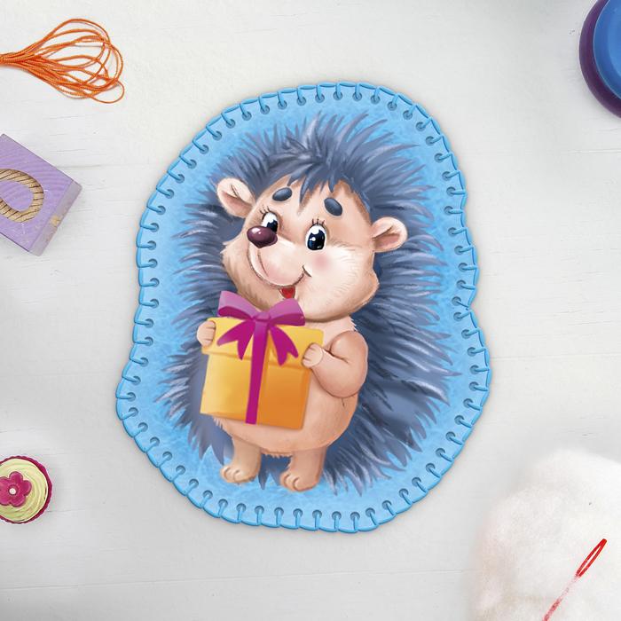 Игрушка из фетра «Ёжик с подарком», с термонаклейкой и перфорацией - фото 691345