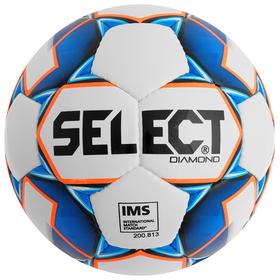 Мяч футбольный SELECT Diamond, размер 5, IMS, TPU, ручная сшивка, 32 панели, 3 подслоя, 810015-002