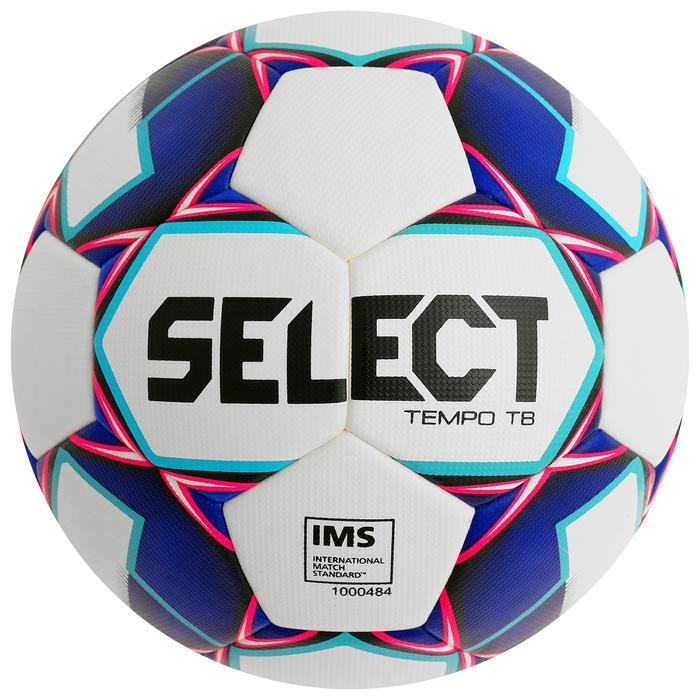 Мяч футбольный SELECT Tempo TB, размер 5, IMS, PU, термосшивка, 32 панели, 2 подслоя, 810416-009
