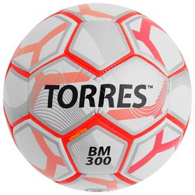Мяч футбольный TORRES BM 300, размер 3, TPU, машинная сшивка, 28 панелей, 2 подслоя, F30743