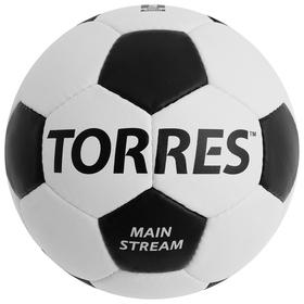 Мяч футбольный TORRES Main Stream, размер 5, PU, ручная сшивка, 32 панели, 4 подслоя, F30185
