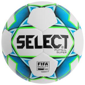 Мяч футзальный SELECT Futsal Super FIFA, размер 4, FIFA Pro, PU, ручная сшивка, 32 панели, 4 подслоя, 850308-102