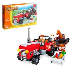 Конструктор Ферма «Трактор с животными», 215 деталей