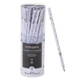 Карандаш чернографитный 3 мм ArtGraphix «Одуванчики», НВ, трёхгранный, пластиковый корпус