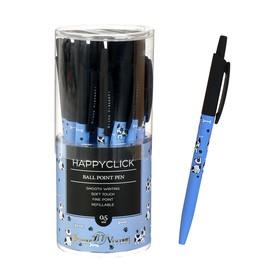 Ручка шариковая автоматическая HappyClick «Далматинцы», узел 0.5 мм, синие чернила, матовый корпус Silk Touch