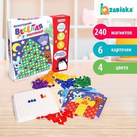 Весёлая мозаика «Новогодняя», цвета, счёт, буквы, цифры