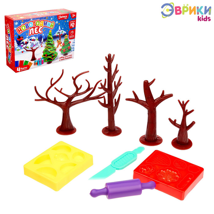 Набор для игры с пластилином «Новогодний лес»