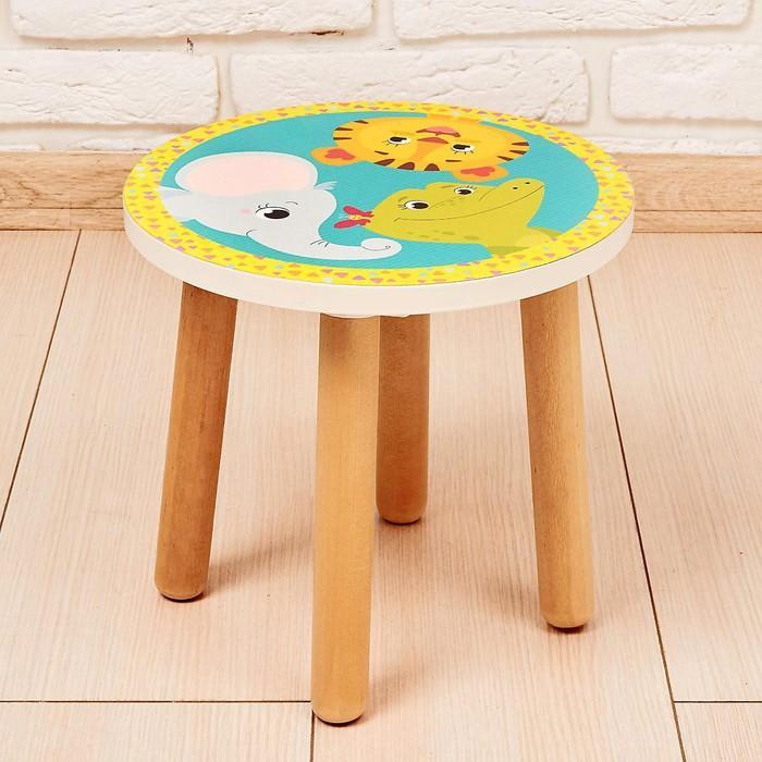 Подставка-стул «Зоопарк», деревянная круглая
